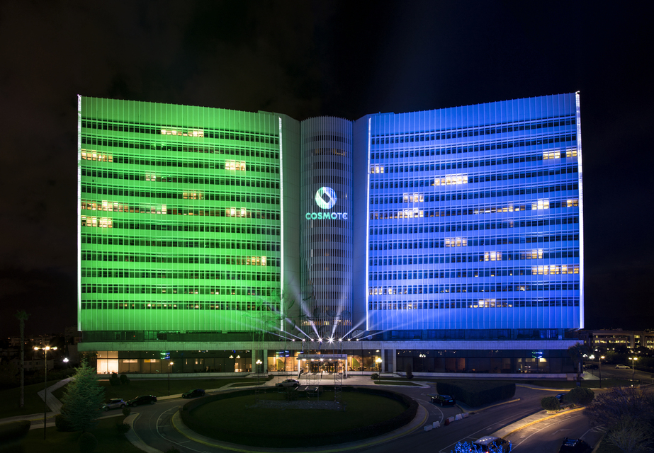 COSMOTE New Logo Lighting Celebration