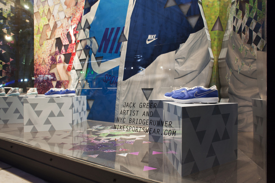 NIKE Window Decoration at Attica Store